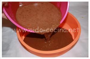 Coca de chocolate microondas elaboración