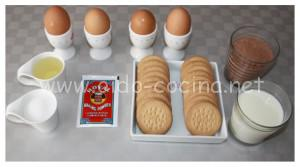 Coca de chocolate microondas ingredientes