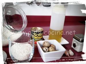 Rissoto con huevos codorniz ingredientes